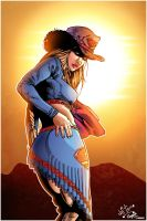 Cowgirl Supergirl colored by Dany-Morales