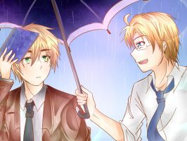 UsUk:One Rainy Day by niNinee11
