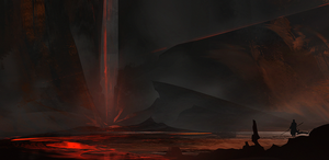 Volcano entrance by ArtofSerg
