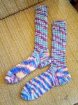 Fancy variegated raggsocks by KnitLizzy