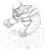 The Goon - NOV '11 Sketch a Day 9 by JeremiahLambertArt