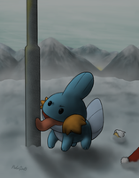 Mudkip and the lamppost by PokeGirl5