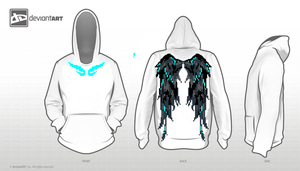 Winged - hoodie design one by JaeToh