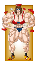 Commission - May Muscle Growth (6/6) by FudgeX02