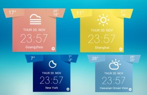 T-Weather for xwidget by jimking
