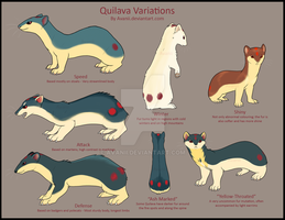 Quilava Variations by Avanii