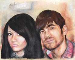 Pretty girl and man portrait by ColourOfLife