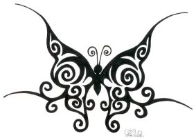 Tribal Butterfly by LWaite