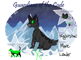 Nightstar Reference - JagClan's Strong Leader by PeepsAreAwesome