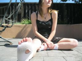 the homeless girl with holey socks 2 by wasabieater