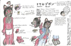 Devon the Fox Ref Sheet by DatFMCobalion