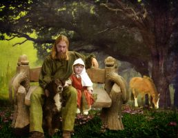 Portrait: Father With Child by thefantasim