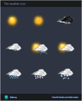 The weather icon-UI by GentryMen