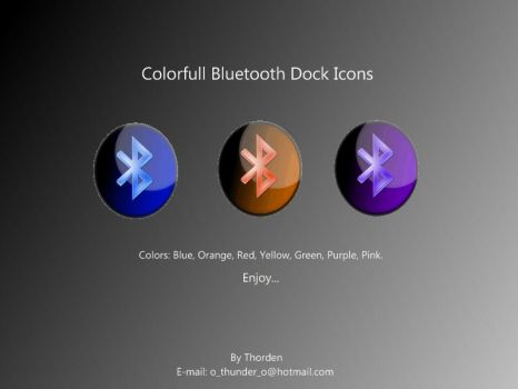 Bluetooth Dock Icons by Thorden