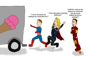 Avengers Scream for Ice Cream by LastChanceToBreathe