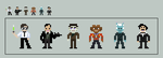Mini Pixel Jeffrey Combs Characters by shadee