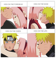 Narusaku: Kiss Meme by seashellskeeper