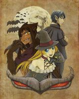The witch, the werewolf, the vampire and... by Brother-Tico