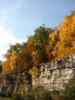 Autumn Cliff Stock Scenery 06 by FantasyStock