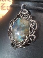 Labradorite in Coils by BacktoEarthCreations