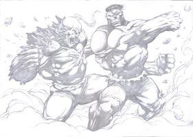 Hulk vs Doomsday by komus