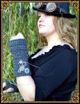 Gants en laine steampunk by Damiane