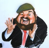 Dom DeLuise by Ken by infiltr8arts