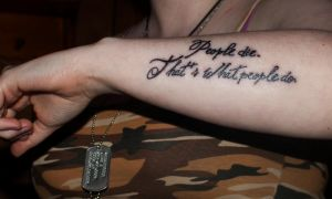 Tattoo #03 - Jim Moriarty Quote by LJ-Todd