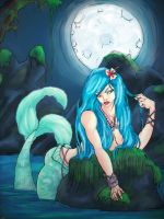 mermaid by the moon collab by sTiLLbROWN84