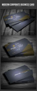 Modern Corporate Business Card by UnicoDesign