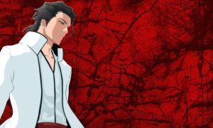 Aizen Wallpaper - red backg. by NenshoOkami