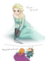 Elsa-please let me go [Froze][when hans told anna] by DarikaArt