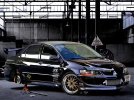 Evo IX Black by Rugy2000