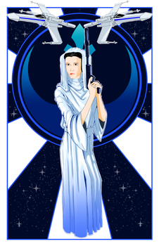 Princess Leia from Star Wars: Ep IV A New Hope by Tefrin