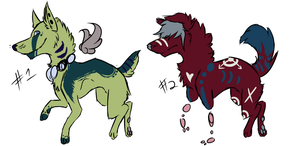 Free Dog Adopts CLOSED by InfectedZombieX