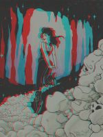 Natalie Nourigat's sketch of Death - 3D Anaglyph by chrisleblanc79