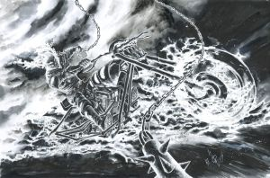Ghost Rider Commission by quahkm