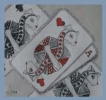 Queen of Hearts Facecard by withabandon