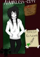 Jeff The Killer - NMC Ficha by GaaMiyu