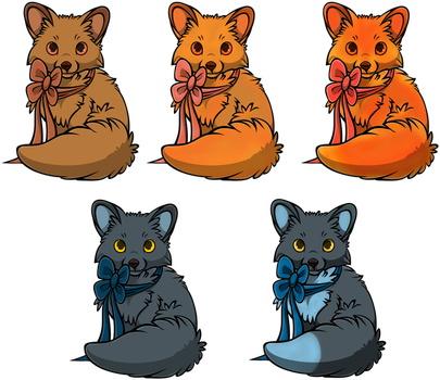 Fableden Fluffy Foxes by HarmoniousFusion