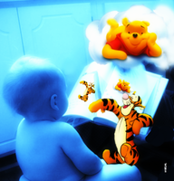 Pooh and Tigger Come to Life by Eat-Sith