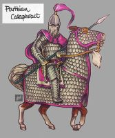 sketchbook: markers: RTW Parthian Cataphract by tnoone