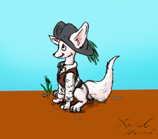 Cute Pirate Fox by Laserbot