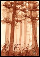 Sepia Woods by PellucidMind