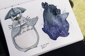 Totoro! Galaxy Totoro by as-obu