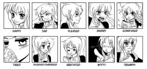 Only 10 expressions but... by DoomGirlMeg