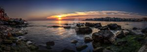 Sunrise in Sozopol by nbpetrov