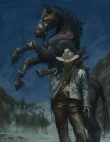 Deadlands: Dead Dude with a horse by Rilez75