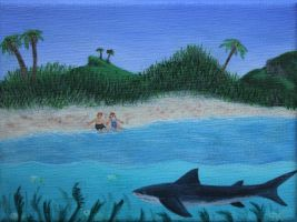 Wedding Table Painting 2: Ship Channel Cay by Ubhejane