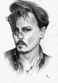 Johnny Depp by bettyArts